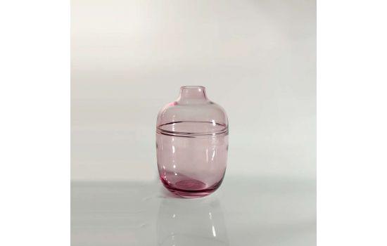 אגרטל זכוכית GLASSY עגול ורוד גבוה