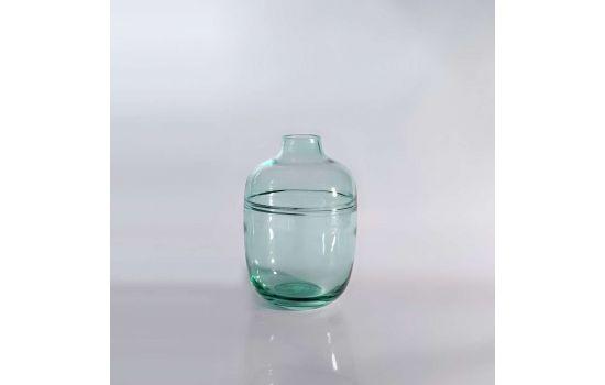 אגרטל זכוכית GLASSY עגול ירוק גבוה