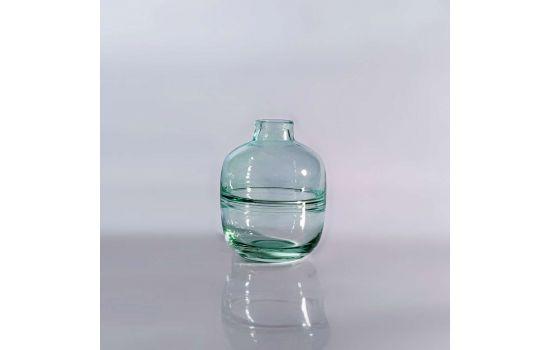 אגרטל זכוכית GLASSY עגול ירוק נמוך