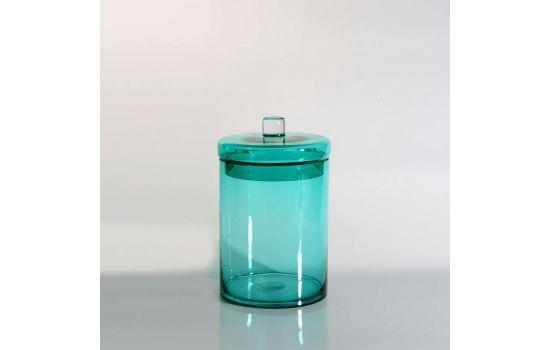 צנצנת HASH זכוכית ירוקה