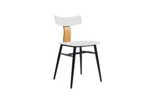 כיסא BAZIL לבן-חרדל