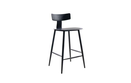 כיסא בר BAZIL שחור-שחור