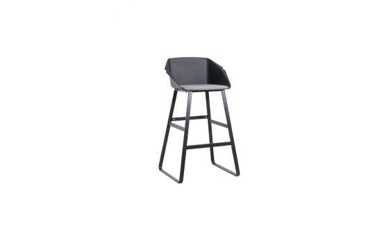 כיסא בר MECK שחור-אפור