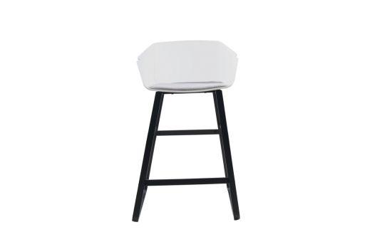 כיסא בר MECK לבן-אפור