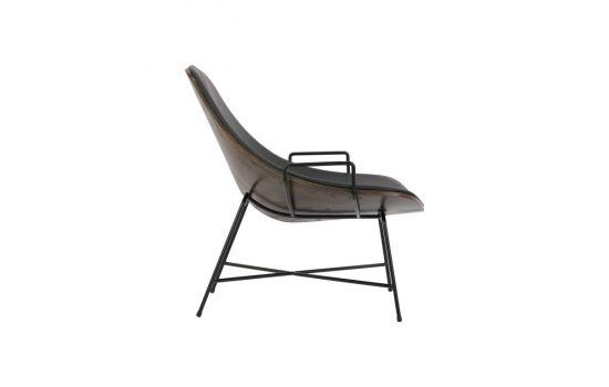 כורסא MARMO עור שחור
